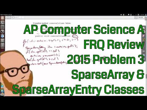 Computer Science A 2015 FRQ Problem 3