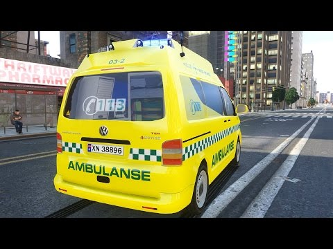 VW Transporter Norwegian Ambulance - GTA IV