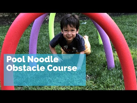 Pool Noodle Obstacle Course - fun outdoor kids summer activity