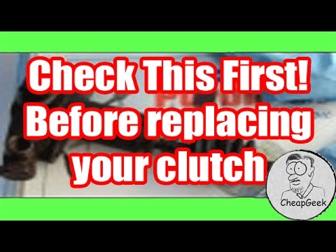Before replacing your car's clutch, check the master / slave cylinder. Could Save Big $$.