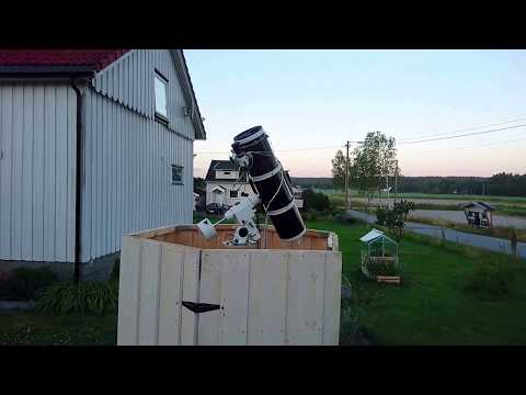 Testing the new telescope pier mount