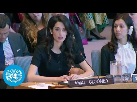 Xxx Mp4 Amal Clooney On Sexual Violence In Conflict Security Council Statement 3gp Sex