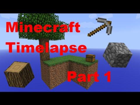 Let It Snow!! - Minecraft - Timelapse - Skyblock - Part 1