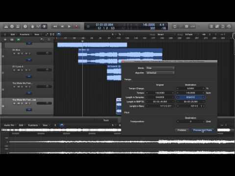 Logic Pro X Time and Pitch Machine Greyed Out