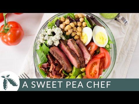 Steak Cobb Salad with Creamy Avocado Cilantro Dressing | A Sweet Pea Chef