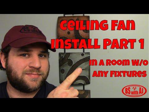 Ceiling Fan Install Part 1