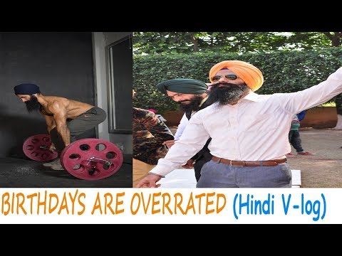 BHANGRA BIRTHDAY &DEADLIFTS|[V-Log]Hindi|** BIRTHDAY?