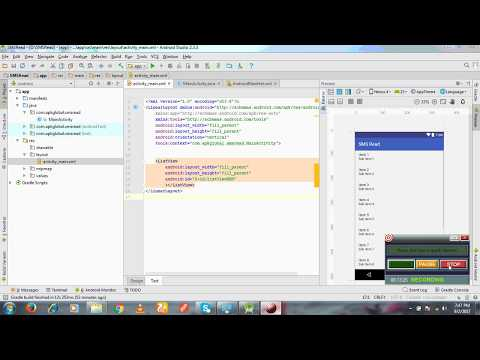 How to create a SMS Read in Android Studio using Array Adaptor & Cursor