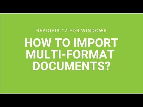 Readiris 17: Multi-format import