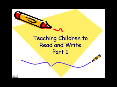 Teaching Children to Read and Write 1