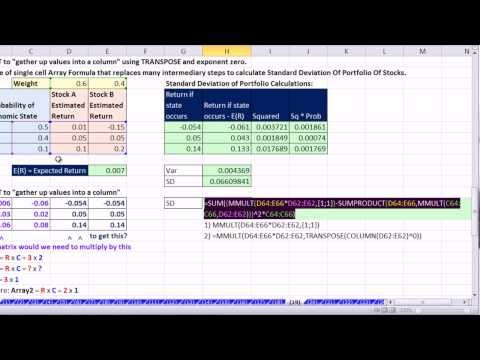 Ctrl + Shift + Enter: Excel Array Formulas 19: Array Function: MMULT