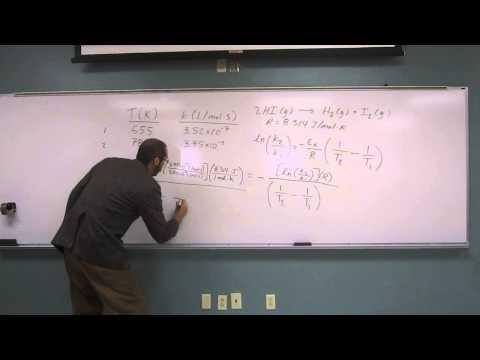 Calculate Activation Energy Using Arrhenius' Equation 006