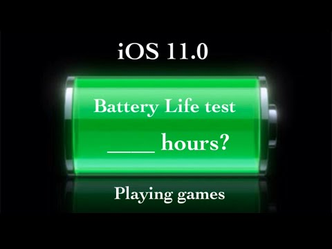 iPhone 5s - iOS 11 Battery Life test playing games (from 100%-0% battery) have to watch it out