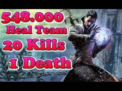 Guild Wars 2 Gold Division PvP Ranked Elementalist 20 Kills 548k Heal !! Gameplay + Build