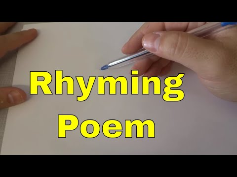 How To Write A Poem That Rhymes-Tutorial