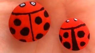 Uğur Böceği Taş Boyama Nasıl Yapılır Boya Boya Daikhlo