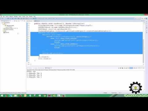 Hướng dẫn đọc ghi dữ liệu từ Excel cơ bản - Java