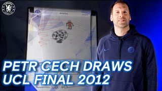 Petr Cech Draws THAT Champions League Final 2012 Moment 🏆 | Chelsea v Bayern Munich | UCL Final 2012