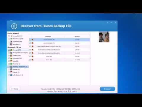 How to Recover Deleted Photos from iTunes backup Free