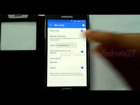 Google Now Card : How to delete card preferences in Samsung Galaxy S5