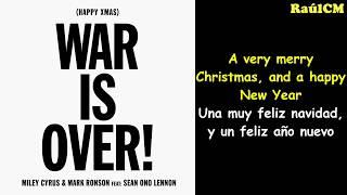 Miley Cyrus, Mark Ronson ft. Sean Ono Lennon - (Happy Xmas) War is Over (Lyrics + Sub Español)