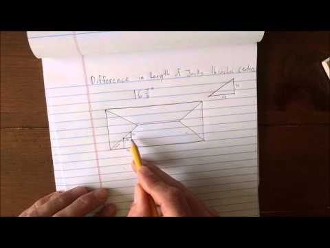 How to derive the Framing Square Rafter Tables - Lines 3 & 4 (Hip Jack Rafters)