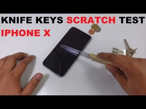 IPHONE X SCRATCH torture extreme TEST