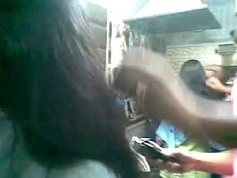 Girl Haircut On Barber Shop
