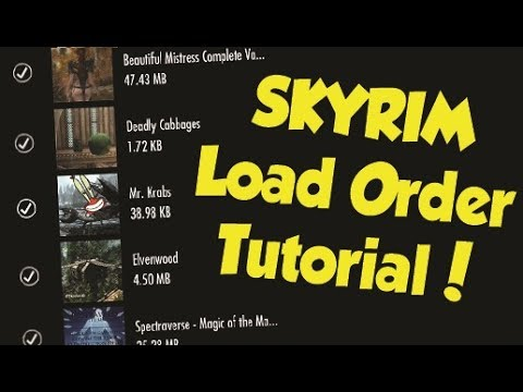 Skyrim Remastered How to Properly Arrange Your Load Order! (Xbox One & PS4 Mod Tutorial)