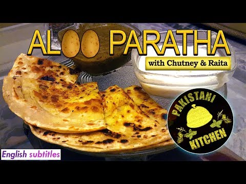 ALOO PARATHA Recipe + Chutney & Raita | 4K | Pakistani Kitchen
