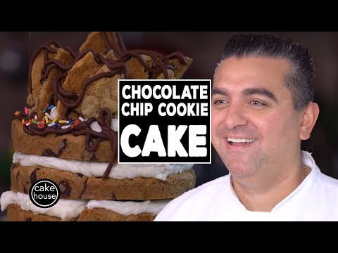 Cake Boss Cookie Tower! Chocolate Chip Cookie Cake | Fast Cakes Ep12