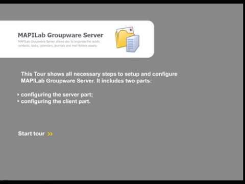 MAPILab Groupware Server tutorial