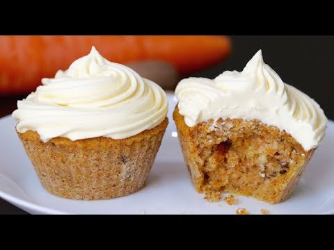 Carrot Cupcake With Cream Cheese Frosting--Cooking A Dream