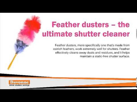 How to Effectively Clean Your Window Shutters