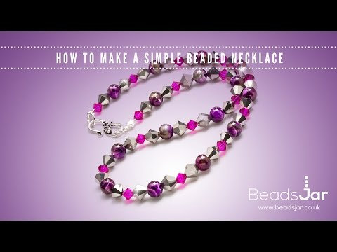 How to make a simple beaded necklace | Swarovski