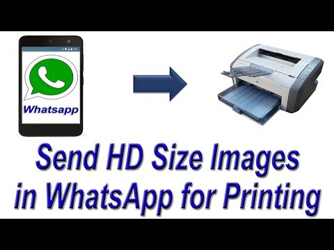 How to Send Original High Quality Photos on whatsapp   Send HD Size Images in WhatsApp for Printing