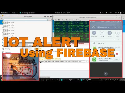 IOT Push Notification to Android by Arduino Node MCU & Firebase Cloud Messaging Fire Detection Alert