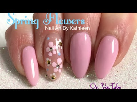 Easy Spring Flower Nail Art Tutorial