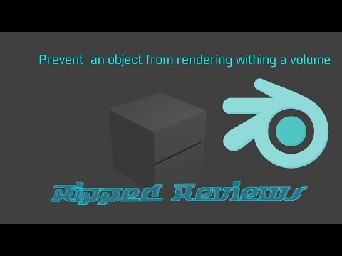 Blender Tutorial: Prevent a Mesh from rendering within a volume.