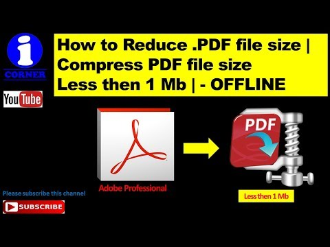 How to Reduce .PDF file size | Compress PDF file size  Less then 1 Mb | - OFFLINE