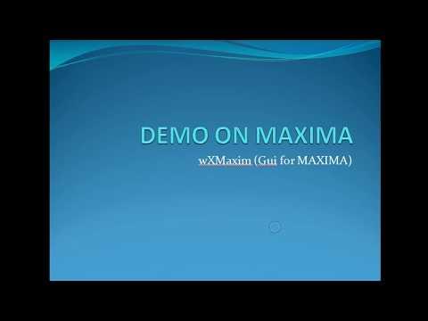 Maxima wxMaxima integration and ODE