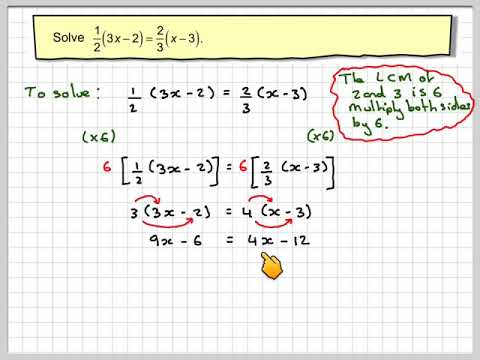 Solving equations with fractions 02