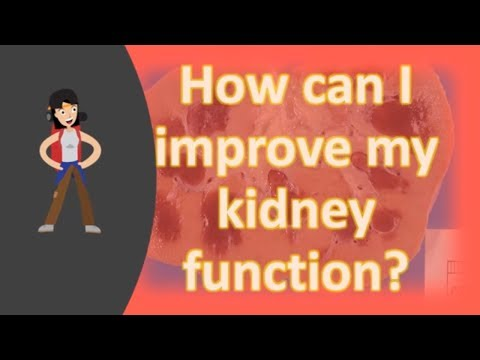 How can I improve my kidney function ?