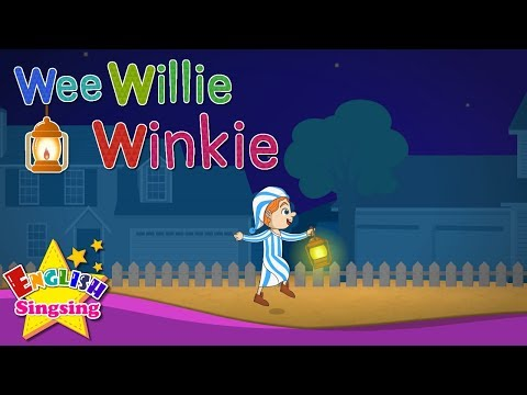 Wee Willie Winkie - Mother goose with Karaoke - Nursery Rhyme song for kids - Kids song with lyrics