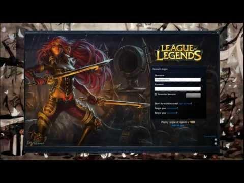League of Legends custom login screen - Katarina