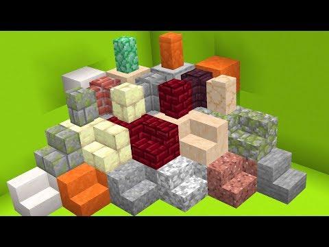 50 New Decorative Blocks in Minecraft Snapshot 18w34b