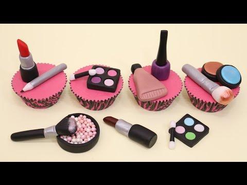 Makeup Cupcakes- Cake Toppers/Cupcakes de Maquillaje!