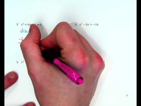 Quadratic Formula ex. 3 (one real solution)