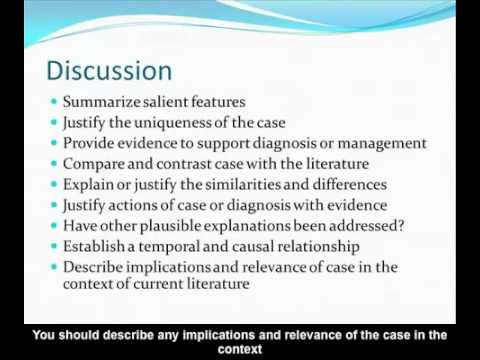 7E - How to Write a Case Report - Commander Dennis Spence
