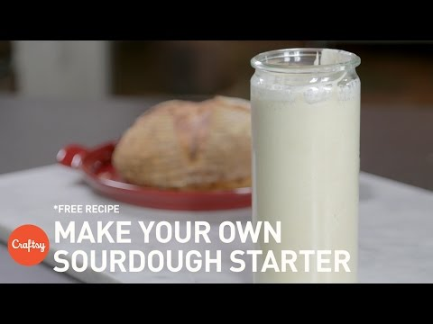 Sourdough Starter Recipe (no yeast!) | Full Process & Tutorial with Zoë François